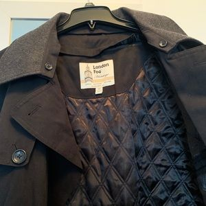 LONDON FOG Men's Double Breasted Belted Trench Ct